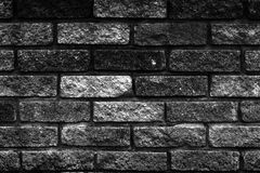Zwart-witte Bakstenen Stock Foto's