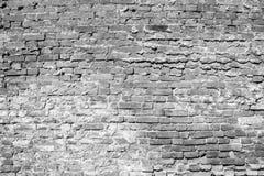 Zwart-witte Bakstenen muur Stock Foto's