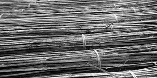 Zwart-witte bamboestokken stock afbeelding