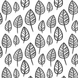 Zwart-witte bladeren Stock Foto's