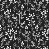 Zwart-witte bladeren Royalty-vrije Stock Afbeelding