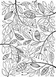 Zwart-witte bladeren stock illustratie