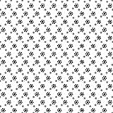 Zwart-witte bloem met de lineaire achtergrond van het bloempatroon Royalty-vrije Stock Foto