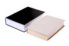 Zwart-witte boeken die op een wit worden geïsoleerdr. Royalty-vrije Stock Foto
