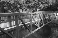 Zwart-witte brug Stock Afbeeldingen