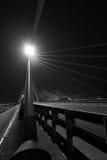 Zwart-witte brugsectie Stock Foto's