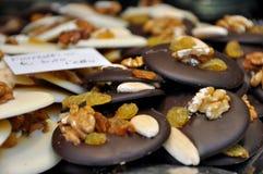 Zwart-witte chocoladekoekjes Stock Foto's