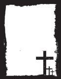 Zwart-witte christelijke kruisbeeldachtergrond vector illustratie