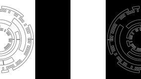 Zwart-witte Cirkel van Technologie Abstracte Achtergrond Royalty-vrije Stock Foto