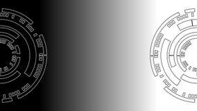 Zwart-witte Cirkel van Technologie Abstracte Achtergrond Royalty-vrije Stock Foto's