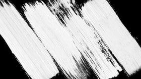 Zwart-witte de overgangsachtergrond van de borstelslag Animatie van verfplons Abstracte achtergrond voor advertentie en stock afbeelding