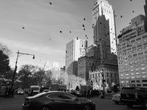 Zwart-witte de stad van New York royalty-vrije stock foto