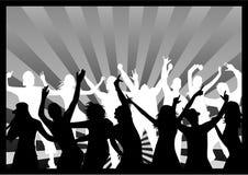 Zwart-witte disco - Royalty-vrije Stock Fotografie