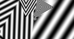 Zwart-witte driehoeken stock videobeelden