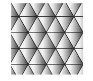Zwart-witte driehoeksachtergrond - vectorillustratie royalty-vrije illustratie