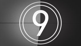 Zwart-witte Filmleider Countdown met geluid vector illustratie
