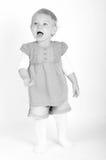 Zwart-witte foto van een jong meisje Royalty-vrije Stock Foto's