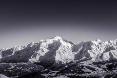 Zwart-witte Franse alpen Royalty-vrije Stock Afbeelding