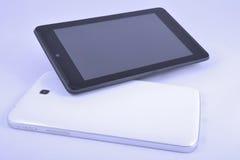 Zwart-witte gadgets Stock Afbeeldingen
