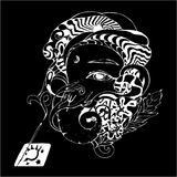 Zwart-witte ganeshaillustratie Ganapati en wierook stock illustratie