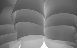Zwart-witte gebogen oppervlakte Royalty-vrije Stock Afbeelding