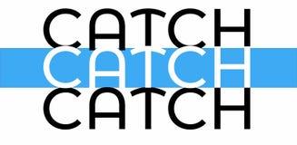 Zwart-witte gekleurde vangst-VANGSTband stock illustratie