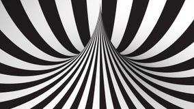Zwart-witte geometrische vorm royalty-vrije illustratie