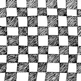 Zwart-witte geruit Stock Fotografie