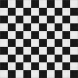 Zwart-witte geruite vloer Royalty-vrije Stock Foto's