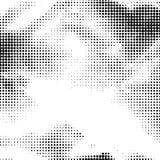 Zwart-witte gestippelde achtergrond Stock Afbeeldingen