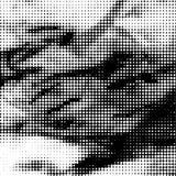 Zwart-witte gestippelde achtergrond Stock Fotografie