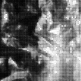 Zwart-witte gestippelde achtergrond Royalty-vrije Stock Afbeelding