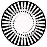Zwart-witte gevoerde samenvatting Royalty-vrije Stock Afbeelding
