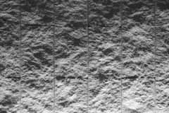 Zwart-witte geweven tegelmuur met verlichting van bodem Royalty-vrije Stock Afbeelding