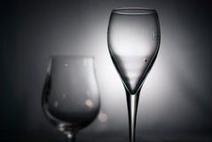 Zwart-witte glazen Royalty-vrije Stock Fotografie
