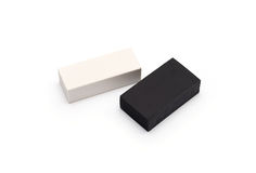 Zwart-witte gom Stock Fotografie