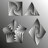 Zwart-witte gradiënt Vector tekening Stock Afbeelding