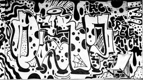Zwart-witte graffiti Royalty-vrije Stock Afbeelding