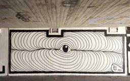Zwart-witte graffiti Stock Foto