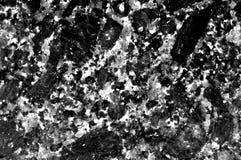 Zwart-witte graniettextuur Graniet natuurlijk patroon Stock Afbeelding