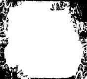 Zwart-witte grungegrens Stock Foto's