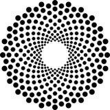 Zwart-witte Halftone Cirkelvector Stock Afbeelding