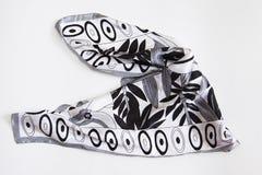 Zwart-witte halsdoek stock fotografie