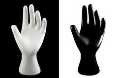 Zwart-witte hand Royalty-vrije Stock Foto's