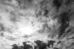 Zwart-witte hemel Royalty-vrije Stock Fotografie