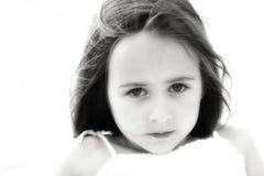 Zwart-witte het meisje van het strand Stock Afbeeldingen