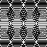 Zwart-witte hexagon geometrische patroonachtergrond stock illustratie