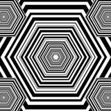 Zwart-witte hexagon geometrische patroonachtergrond royalty-vrije illustratie