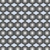 Zwart-witte hexagon geometrische patroonachtergrond vector illustratie