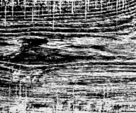 Zwart-witte hoge contrast houten textuur royalty-vrije illustratie